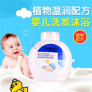 隆力奇300ml婴儿舒柔滋养洗发沐浴露(二合一) 10瓶/箱