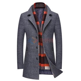 43%羊毛 2色入 男士加厚外套 2017秋冬新款商务风衣