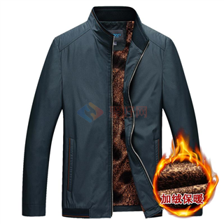 商务休闲加厚保暖中年男夹克男装外套