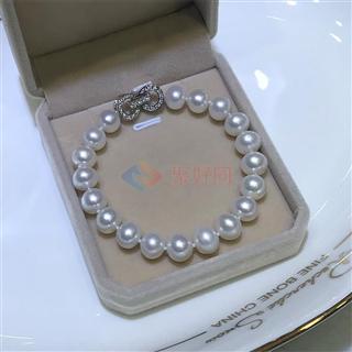 纯天然淡水珍珠手链 气质百搭 色白圆润φ8-9mm
