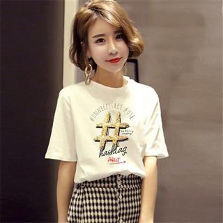 韩版时尚休闲印花薄款超火短袖T恤