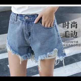 春夏女装新款阔腿牛仔短裤