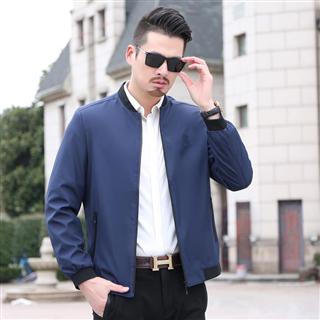 2019年新夹克男春季韩版男士外套休闲潮流衣服修身青年棒球服男装