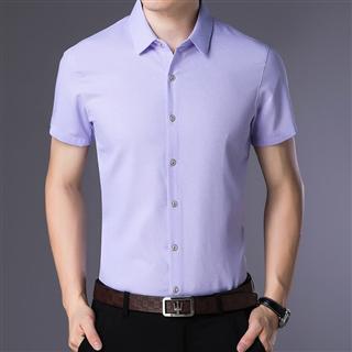 69包邮短袖衬衫男中青年修身休闲时尚男士衬衣夏季薄款寸衫