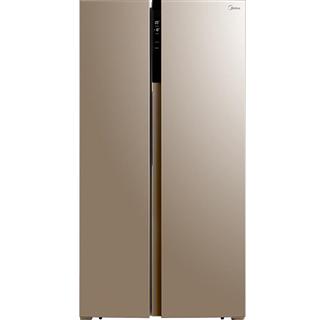 【限时特惠】美的(Midea)655升 对开门冰箱 双变频无霜 一级能效 智能APP 大容量电冰箱 米兰金 BCD-655WKPZM(E)