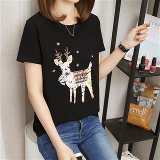 夏季韩国新款女式宽松短袖T恤女学生上衣女装