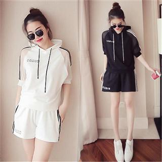 夏季韩版女士休闲时尚运动套装