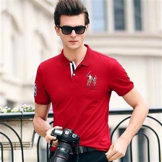 99包邮夏季新款男士短袖t恤衬衫领半袖polo衫潮流丅恤男装8色可选