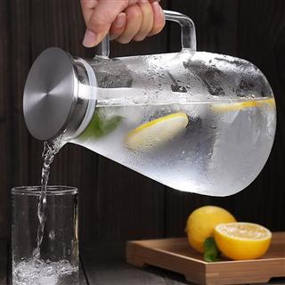 凉水壶玻璃耐高温大容量杯耐高温果汁凉白开茶壶套装冷水壶