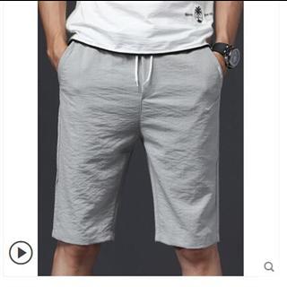 短裤男夏天韩版潮流修身五分裤男士休闲5分裤冰丝薄款夏季中裤