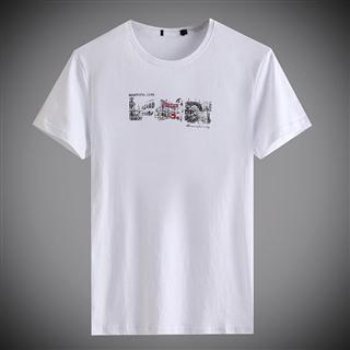 品牌剪标夏装新品t恤男短袖 圆领字母印花上衣 潮流半袖打底衫