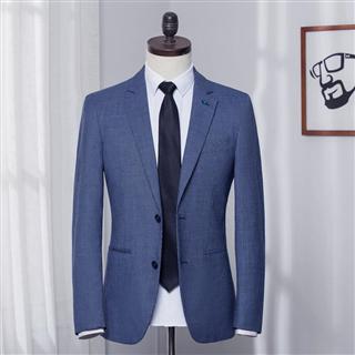 品牌剪标 小西装男韩版潮流上衣修身春秋男士西服英伦休闲外套 单