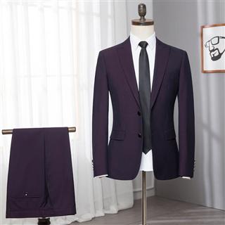 品牌剪标 西服套装男春秋新款修身西装套装男士新郎伴郎结婚礼服