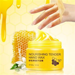 蜂蜜手足蜡养护滋润保湿嫩滑去角质护手护足霜 150g*3瓶装