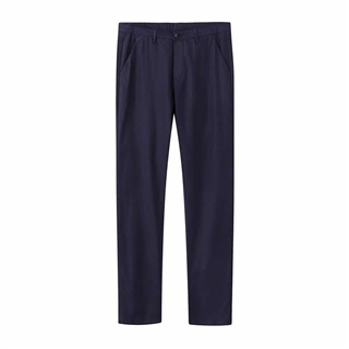 品牌剪标商务休闲裤男士西裤直筒宽松薄款藏青