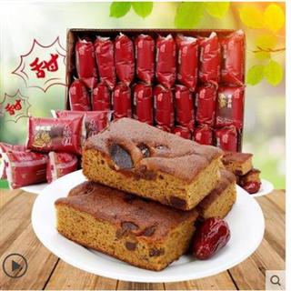 39.9包邮红枣蛋糕+核桃蛋糕3斤装早餐老北京枣糕手工软糯糕点 偏远地区不发货