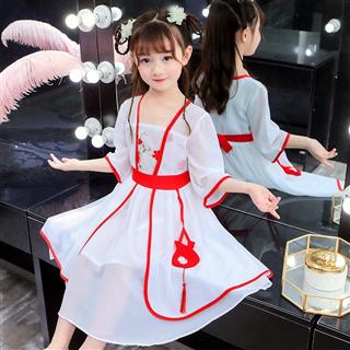 夏季新款儿童古装改良汉服绣花连衣裙中国风童装中大女童襦裙
