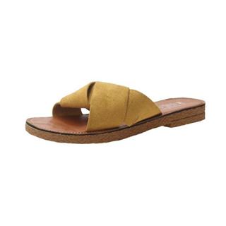 夏季新款拖鞋女韩版平底一字拖交叉时尚外穿女凉拖女鞋