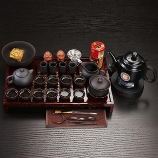整套功夫茶具套装紫砂白瓷冰裂烧水壶茶道礼盒