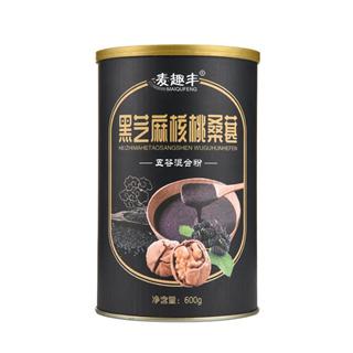 黑芝麻桑葚粉核桃粉黑豆粉糊代餐粉五谷粉冲饮食品600g