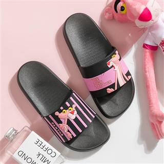 粉红豹拖鞋女家用夏室内防滑洗澡韩版卡通托鞋时尚外穿凉拖鞋