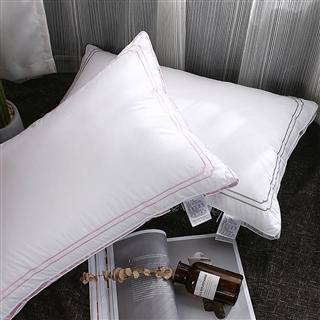 维亚特蓬松安睡枕芯全棉定型羽丝绒护颈枕头成人枕单人学生枕