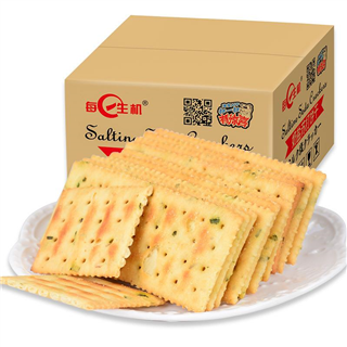每日生机苏打饼干整箱散装梳打饼干2250g休闲零食品