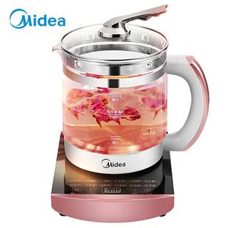 【限时特惠】美的(Midea)养生壶电水壶烧水壶电热水壶煮茶壶煮茶器1.5L玻璃WGE1701b
