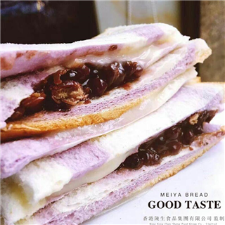 野原美伢紫米原味层夹心面包120g*10包