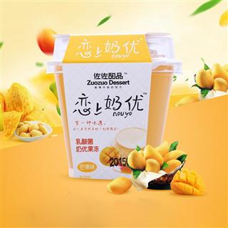【八杯装】佐佐果冻126g恋上奶优芒果椰奶乳酸布丁休闲食品芒果/椰奶口味