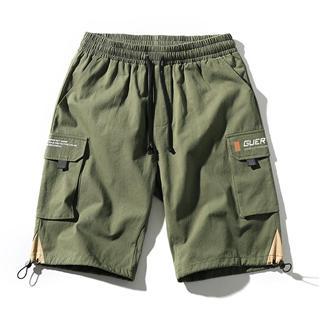 极度寒冷男装日系夏季新品工装短裤男休闲宽松抽绳五分裤子