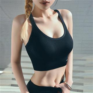 AMIMEDEA运动内衣女背心式聚拢定型美背文胸高强度防震