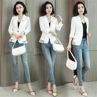 春季新款韩版气质小西装外套百搭修身显瘦西服