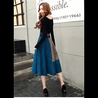 秋季新款原版连衣裙女时尚韩国套装裙潮流长袖两件套女装