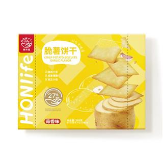 【两袋装】HONlife酥脆土豆薄饼干零食海苔266g蒜香266g