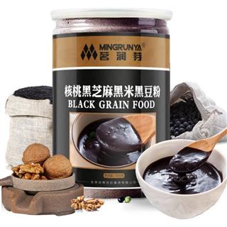 茗润芽黑元素三黑粉核桃黑芝麻黑米黑豆粉营养代餐粉代餐