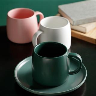色釉咖啡杯北欧ins风简约家用水杯陶瓷马克杯