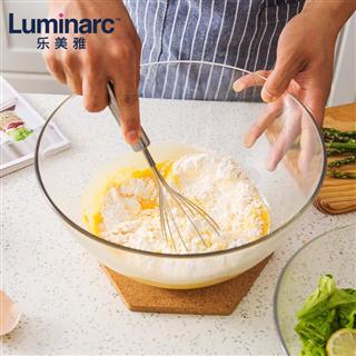 乐美雅家用钢化玻璃碗水果沙拉碗大号和面碗烘焙料理碗