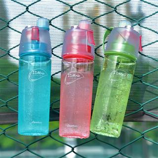 创意喷雾水杯运动水壶随手杯儿童便携补水塑料降温杯