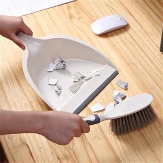 【买一送一】迷你清洁套装创意桌面清洁刷家用多功能扫把簸箕套装