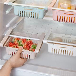 【三个装】冰箱塑料收纳筐抽屉式储物盒整理盒收纳篮