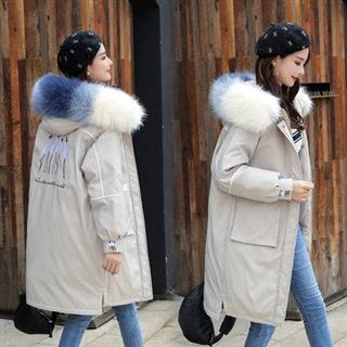 178包邮女士中长款棉衣女宽松加厚冬装2019新款很仙刺绣棉服韩版棉袄外套