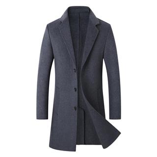 双面呢大衣男羊毛中长款冬季呢子韩版无羊绒英伦风衣男士毛呢外套
