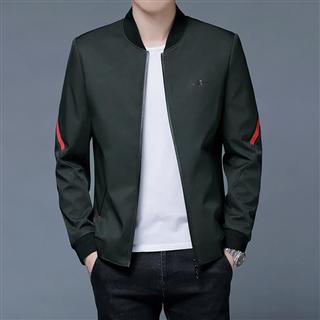 158包邮男士新款纯色立领青年夹克衫时尚茄克外套