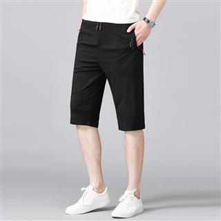 夏季天丝棉男士休闲短裤五分裤修身舒适爆款百搭男士裤子