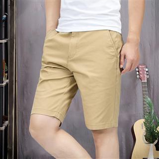夏季新款 男士休身时尚纯色 短裤男五分裤宽松直筒5分中裤