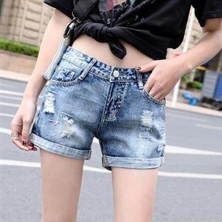 65包邮牛仔短裤女高腰夏季2020年新款韩版修身显瘦宽松a字阔腿热裤