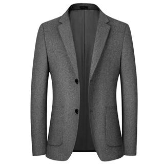 2020新款羊毛呢大衣两粒扣休闲西装 绵羊毛55.2%