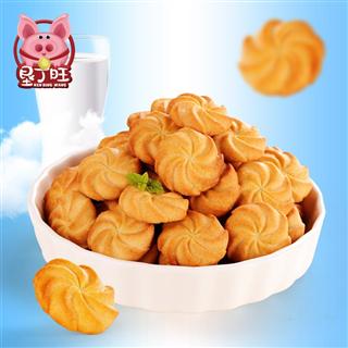 垦丁旺 奶油味小曲奇饼干独立小包装整箱办公室休闲网红零食小吃300g*2