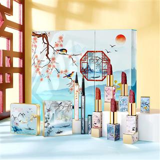 故宫中国风联名口红雕花套装口红礼盒套装